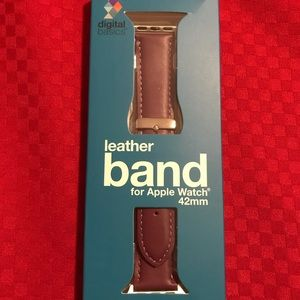 NIB APPLE PURPLE LEATHER WATCHBAND FITS 42mm